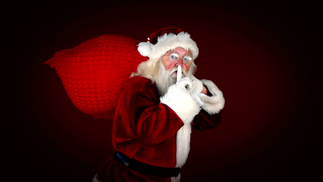 Santa delivering presents with christmas message video