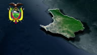 Santa Elena with Coat Of Arms Animation Map video