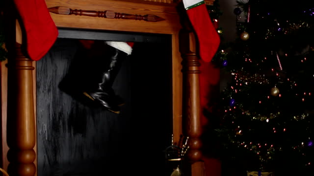 Santa / Father Christmas stuck in the chimney video