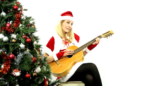 Santa Girl with guitar video