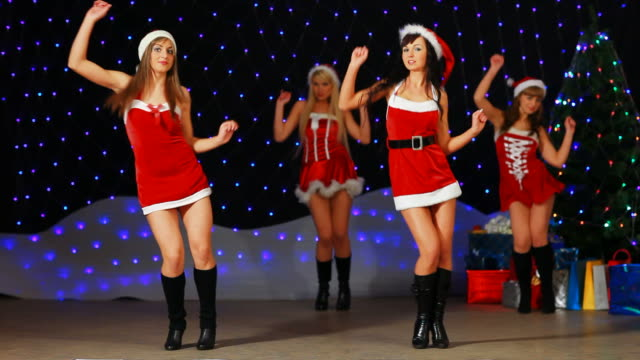 Santa Girl's dancing and showing number 2010 video