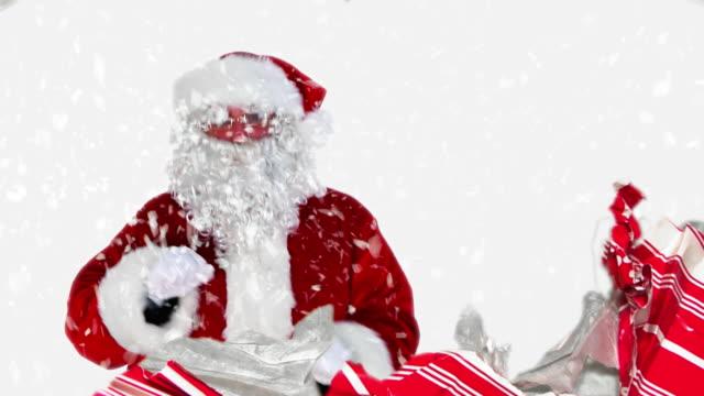 Santa in a Gift video