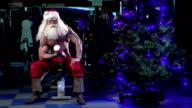 Santa in a gym training biceps 001 video
