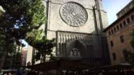 Santa Maria del Pi church in barrio gotico, Barcelona video