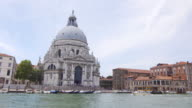 View of Santa Maria della Salute in Venice, Italy from across the water video