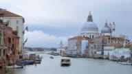 Santa Maria della Salute , Venice Italy from accademia bridge video