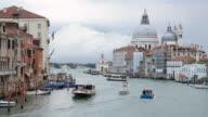 Santa Maria della Salute, View of accademia bridge , Venice Italy video