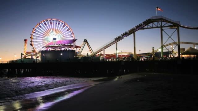 Santa Monica Pier at night video