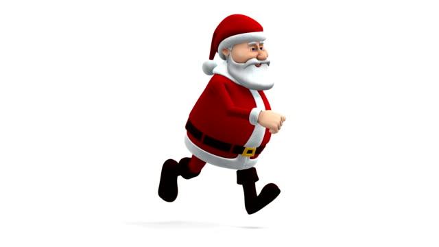 santa running - side view video