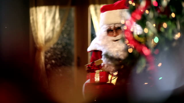 Santa with gifts video