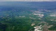 santiago de chile desde el aire from above video