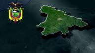 Santo Domingo de los Tsachilas with Coat Of Arms Animation Map video