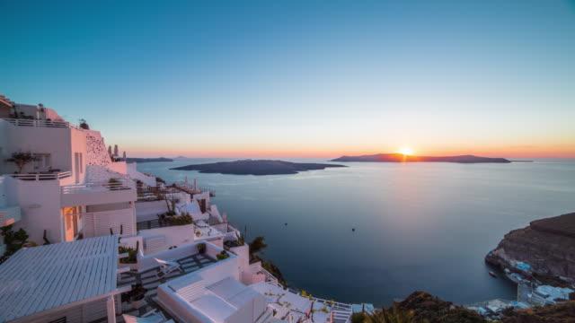 Santorini sunset video