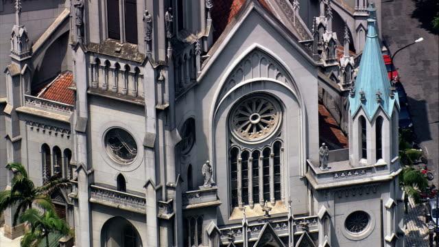 Santos Cathedral  - Aerial View - São Paulo,Santos,Brazil video