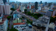 Sao Paulo City Day to night time lapse video