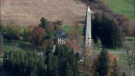 Saratoga Monument - Aerial View - New York,  Saratoga County,  United States video