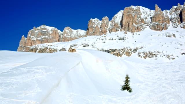 Sass Pordoi mountain, Val di Fassa, Dolomites, Italy video