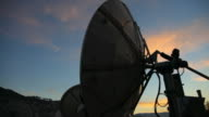 A satellite antenna in motion video