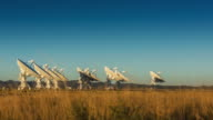 Satellite Array Timelapse at Sunset video