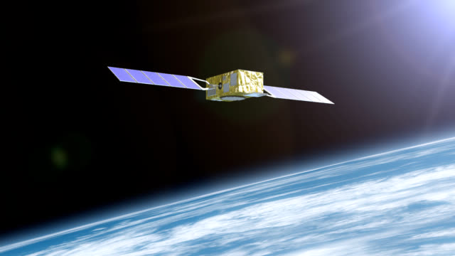 Satellite destroyed by space debris video