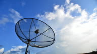 satellite dish antennas under sky video