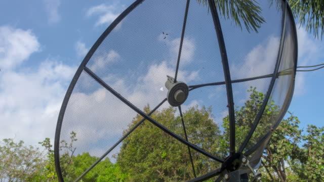 satellite dish antennas. video