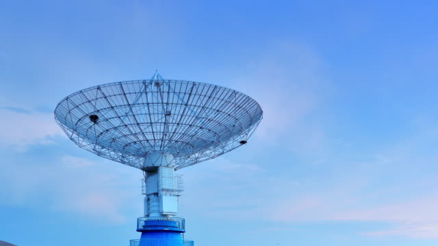 4K: Satellite Dish Communications Tower video