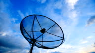 satellite dish moves in time-lapse video