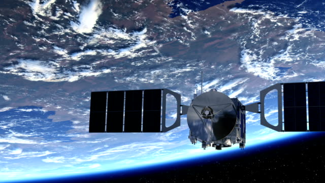 Satellite Orbiting Earth video