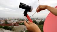 Satellite signal video