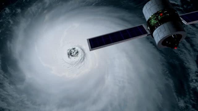 satellite tracking hurricane video