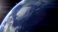 Satellite View of Hurricane video
