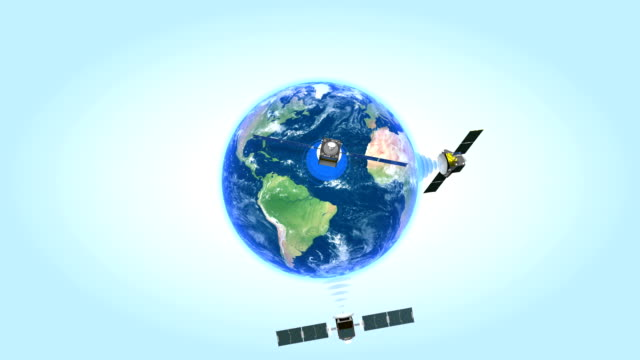 Satellites network. Looped animation. video