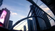 Sathorn bridge intersection at night , time lapse , Bangkok Landmark , Thailand video