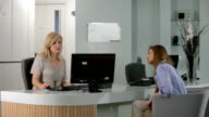 Satisfied client thanking her healthcare professional. video