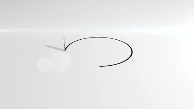 Saw cutting hole HD Animation video