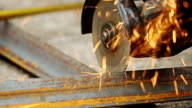 Sawcutting a Metal video