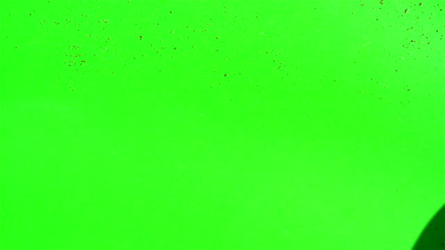 Sawdust on a green screen video