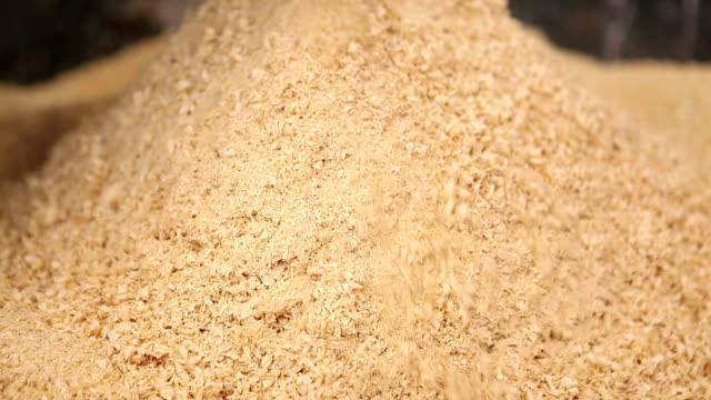 Sawdust pile video
