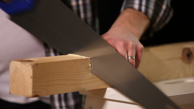 Sawing close up video