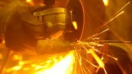 sawing the iron sparks video