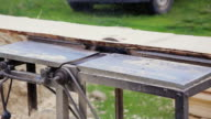 sawmill saws timber outdoor video