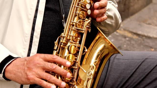 Sax player (HD) video