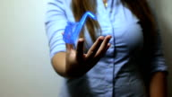 Saxophone hologram video
