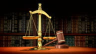 Scales and Gavel video