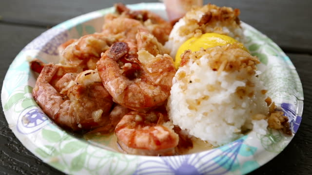Scampi Shrimp Truck Food From Oahu Hawaii video