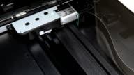 Scanner engine in work. Copy machine. video