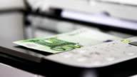 Scanning 100 Euro video