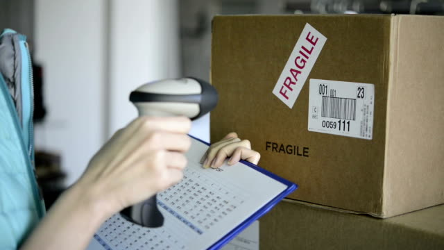 Scanning boxes with barcode scanner video