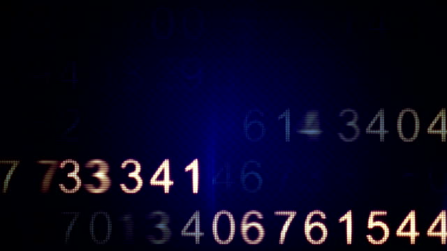 scanning numbers loop background video